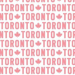 maple leafs toronto hockey uppercase reversed pink