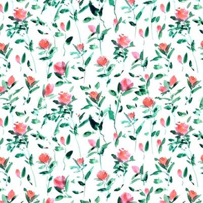 rose garden impression - watercolor rose pattern - flowers with leaves - flourish florals 332