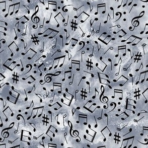 Musical notes on distressed slate  small scale