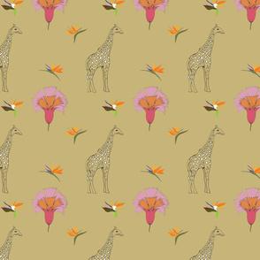 Giraffe Floral