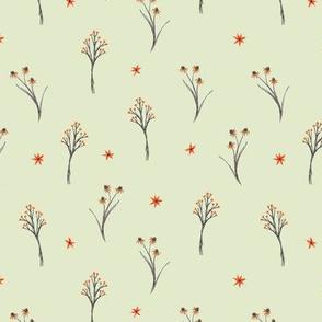 orange sprigs