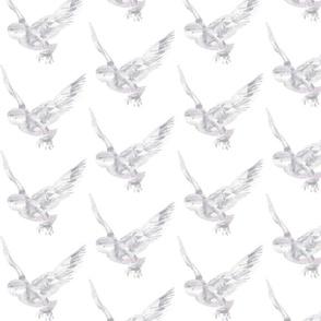 Frost Snowy Owl