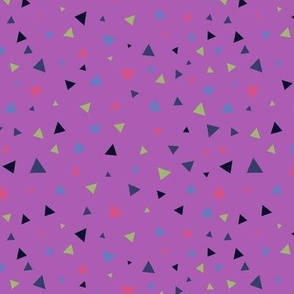 Scattered triangles - purple