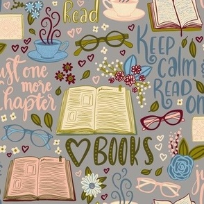 Just one more chapter - book lover  - on dawn grey