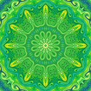 ornamental green mandala