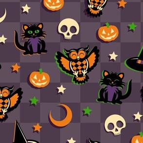 Vintage Style Halloween Pattern