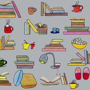 Cosy reading-never enough books