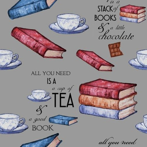 Books and Tea for Cozy Reading