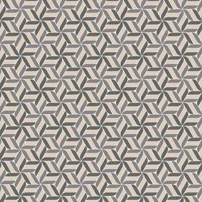 Geometric star flower pattern - brown