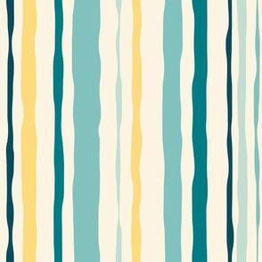 Geometric star flower pattern - peach