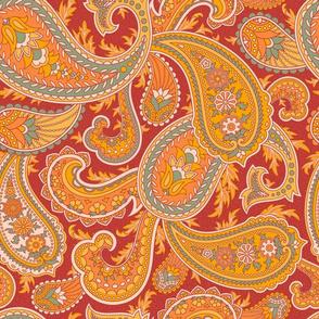 Paisley Orange 1