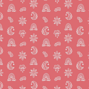 Tribal Nature on pink
