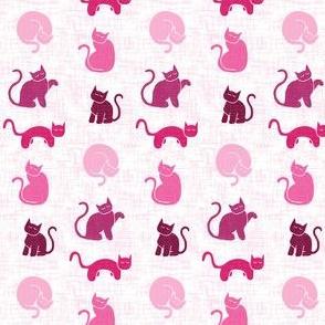 Sleepy Cats - Pink Texture (S)