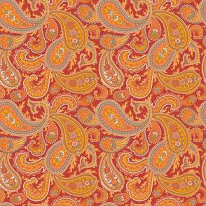 Orange Paisley 2