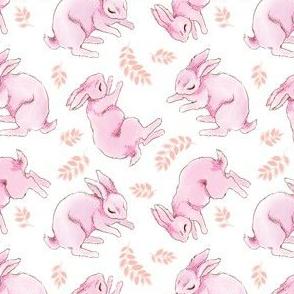 Lazy Pink Rabbits