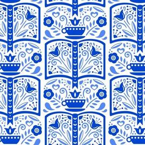 Book Folk Blue
