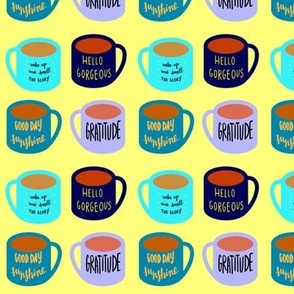 coffee or tea - in cozy colors
