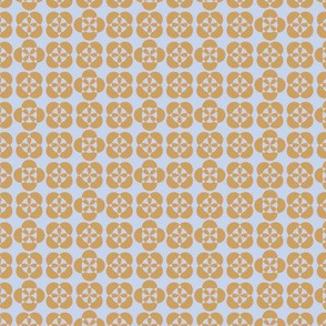Byzantine tile gold& pink on pale blue