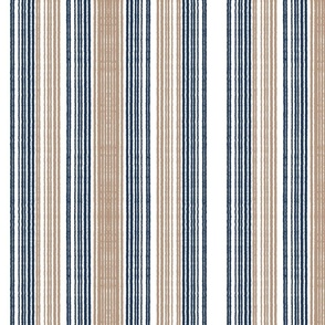 Chambray stripe-blue and khaki