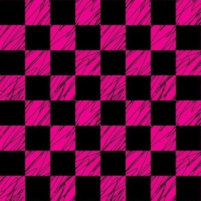 1´´ Check structured Black and Magenta