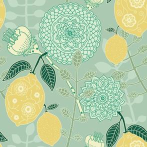 """Citrus Grove (12"""") - mint green"""