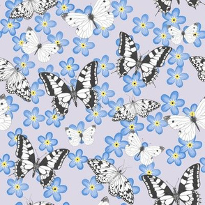 Forget-me-nots and butterflies
