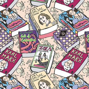Reading classics on the carpet