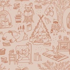 Cozy Woodland Storytime - Medium Scale