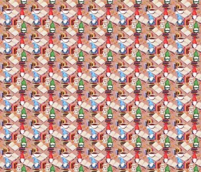 Gnomes, books, tea, cookies