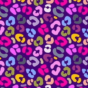 Mini Purple Multicolor Animal Print