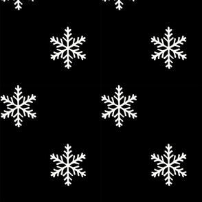 Snowflakes (large scale, b&w)