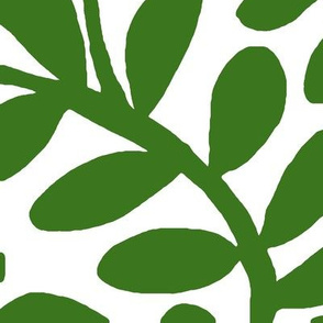 WINDING VINE LEAVES green jumbo