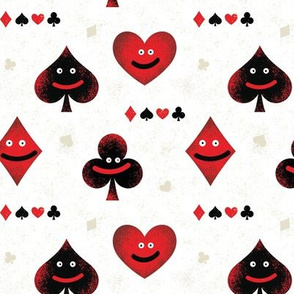 Tiny- happy playing card