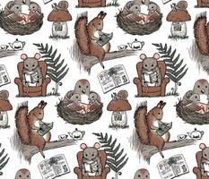 woodland cozy reading