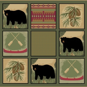 Black Bear Lake Lodge Quilt xLge 2 yards