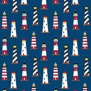 Lighthouse Navy Blue Directional Small