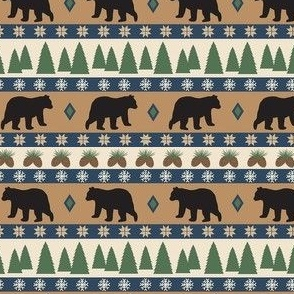 Black Bear March Tan Small
