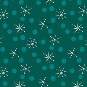 MCM Snow and Dots M+M Evergreen by Friztin