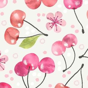 Cherry Fruit and Blossom