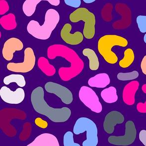 Multicolor Purple Animal Print
