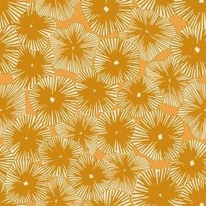 Embroidered Flowers mustard by DEINKI