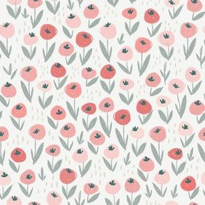 Ditsy Doodle Meadow in Beige - small scale