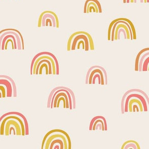 Rainbows in Pink & Brown