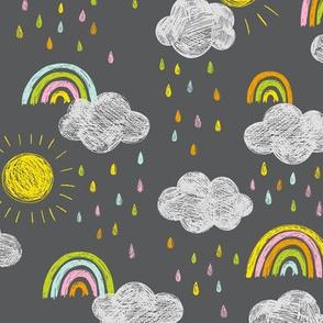 Chalkboard sky