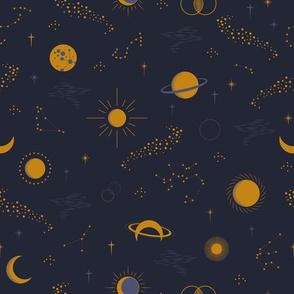 Sky Constellation Navy by Deinki