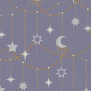 Hanging Lights purple by DEINKI