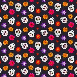 Mini Sugar Skulls Black