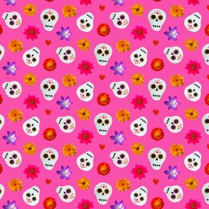 Mini Sugar Skulls Hot Pink