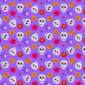 Mini Sugar Skulls Purple