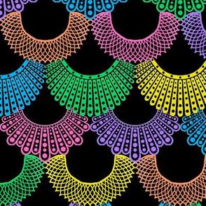 Dissent Deco, Rainbow Colors on Black